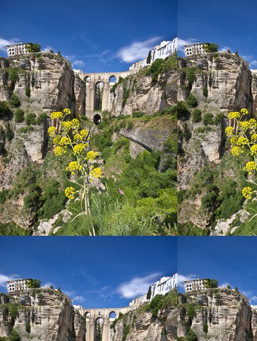 Tapeta Pixerstick Panoramatický pohled na Ronda, Andalusia, Španělsko - Evropa