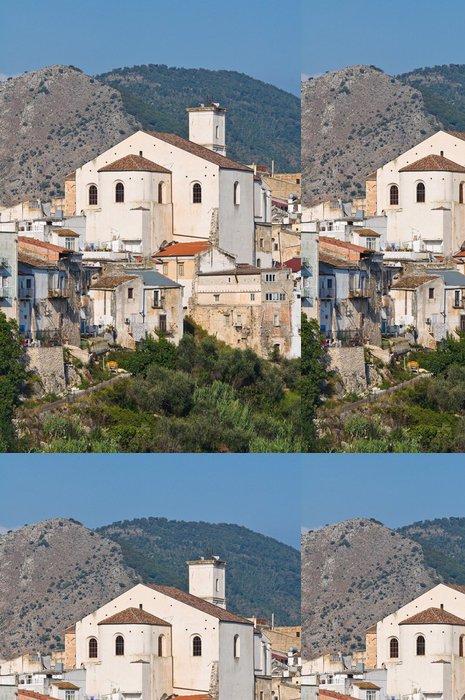 Tapeta Pixerstick Panoramatický výhled na Cagnano. Puglia. Itálie. - Prázdniny