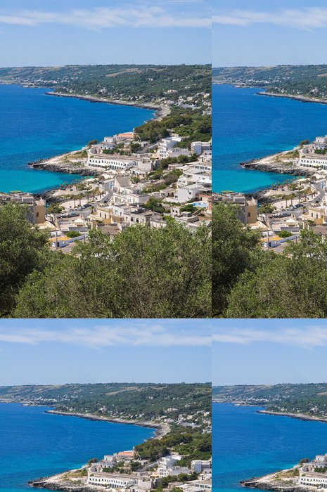 Tapeta Pixerstick Panoramatický výhled na Castra. Puglia. Itálie. - Prázdniny