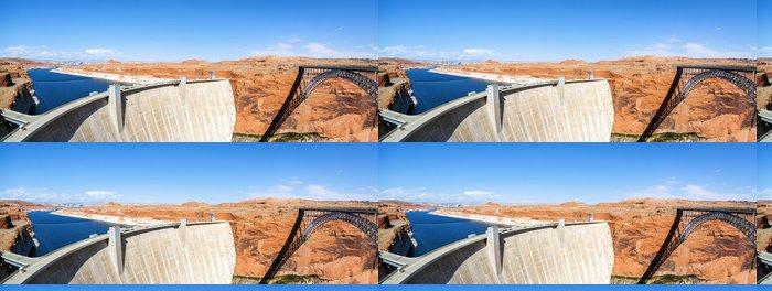 Vinylová Tapeta Panoramatický výhled na Glen Dam a most v Page - Amerika