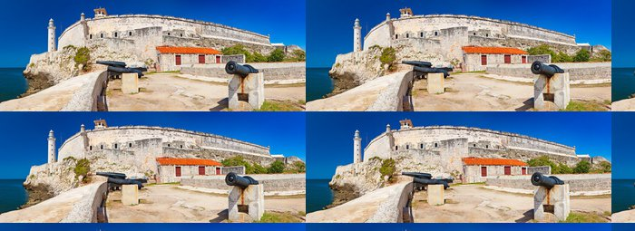 Tapeta Pixerstick Panoramatický výhled na hrad El Morro v Havaně - Amerika
