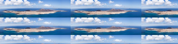 Tapeta Pixerstick Panoramatický výhled na La Graciosa, Montana Clara, Allegranza - Ostrovy