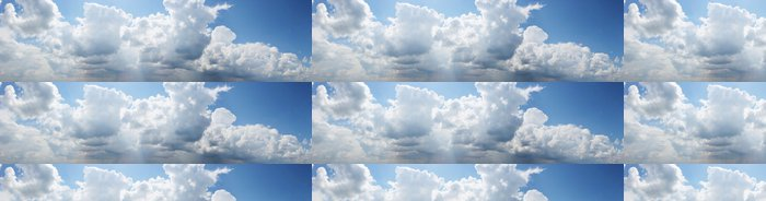 Tapeta Pixerstick Panoramatický výhled zatažené obloze, textura - Nebe