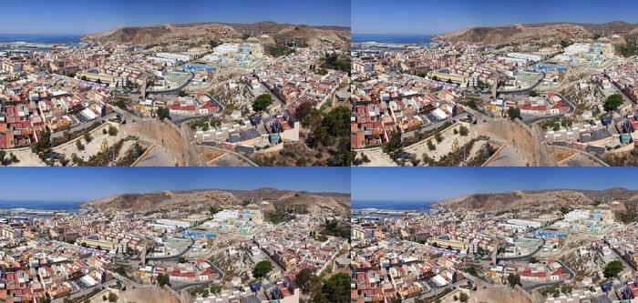 Tapeta Pixerstick Panoramica del Barrio de La Chanca, Almeria - Evropa