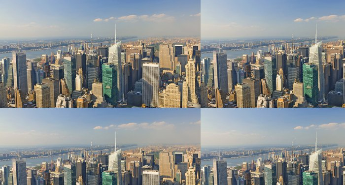 Tapeta Pixerstick Panoramica Manhattan, Nueva York - Americká města