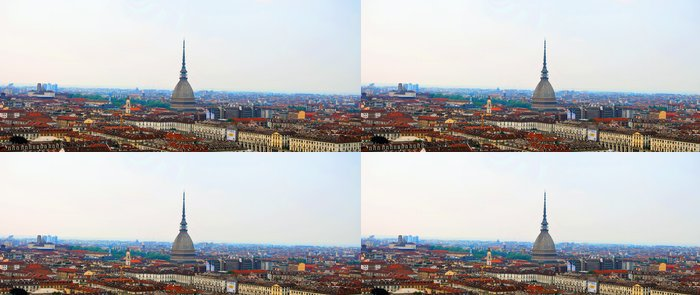 Tapeta Pixerstick Panoramica Torino - Mole Antonelliana - Prázdniny