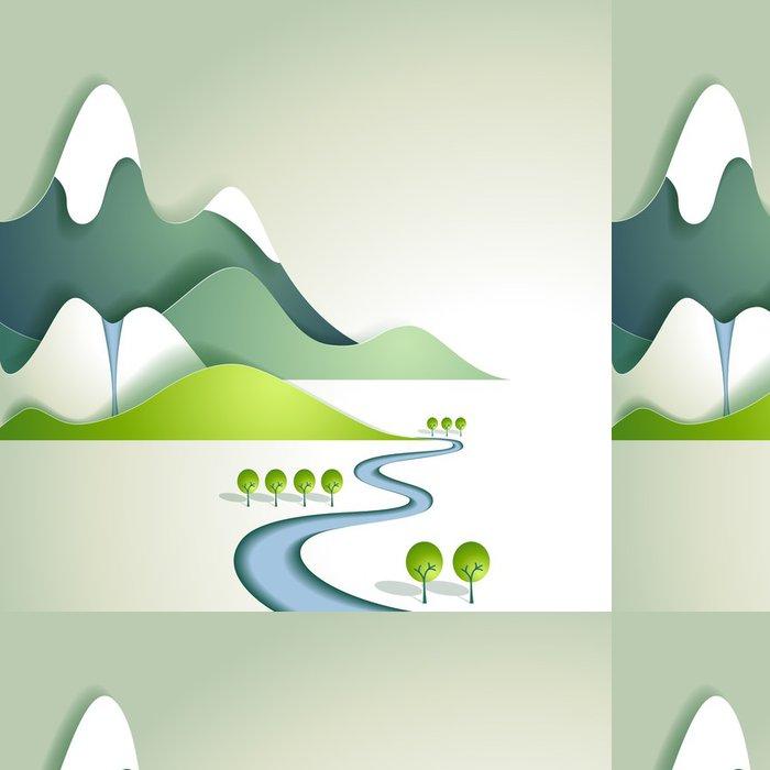 Tapeta Pixerstick Papír horské krajiny - Roční období