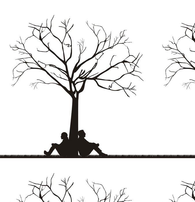 Tapeta Pixerstick Pár pod stromem - Značky a symboly