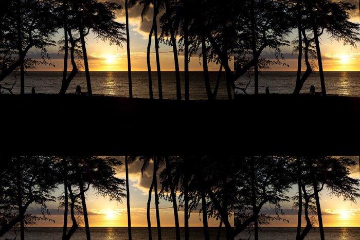 Tapeta Pixerstick Pár se těší tropické slunce na pobřeží Kona - Amerika