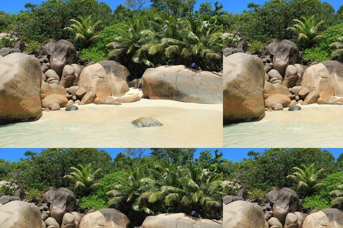 Vinylová Tapeta Paradise beach seychely - Prázdniny