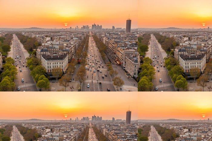 Tapeta Pixerstick Paris Skyline - Evropská města