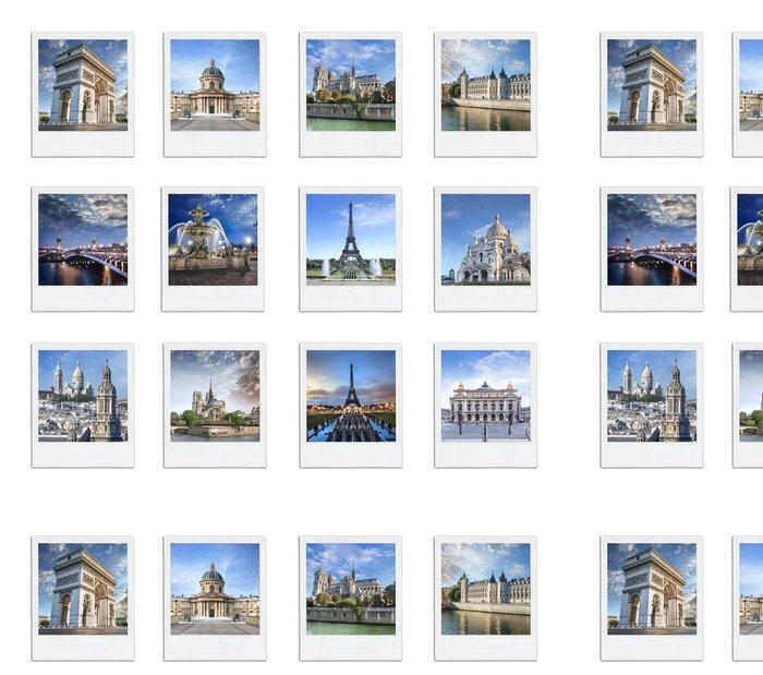 Tapeta Pixerstick Paříž Francie Polaroid - Evropská města