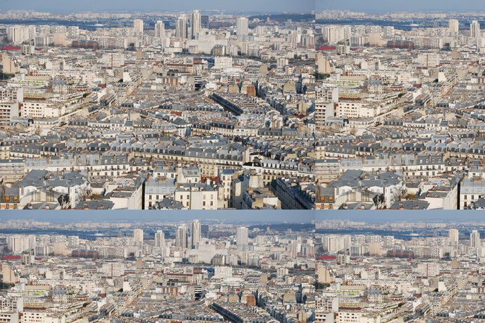 Vinylová Tapeta Paříž panoráma z vysoce pohledu - Evropská města
