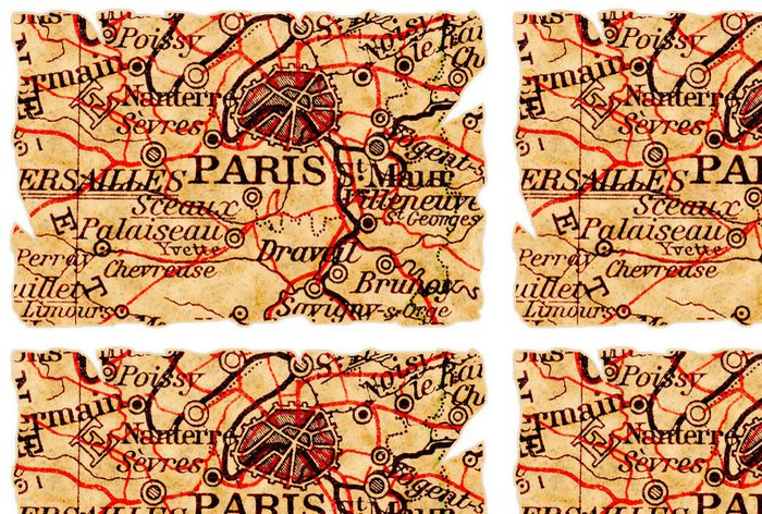 Tapeta Pixerstick Paříž staré mapy - Témata