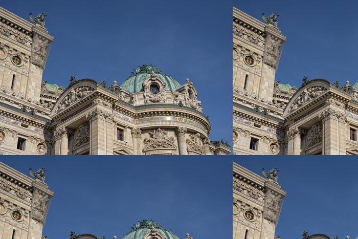 Tapeta Pixerstick Paříž střechy a cityview - Město