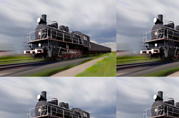 Tapeta Pixerstick Parní lokomotiva v pohybu - Témata