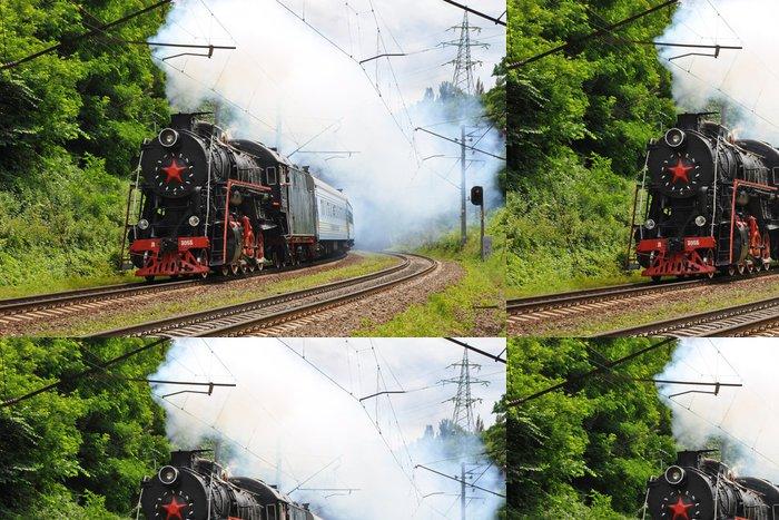 Tapeta Pixerstick Parní lokomotiva - Témata