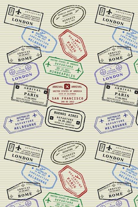 Tapeta Pixerstick Passport stránky s cestovními známek - cestovní víza - Značky a symboly
