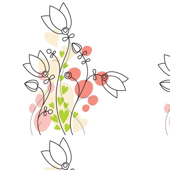 Tapeta Pixerstick Pastel květinové pozadí - Rostliny