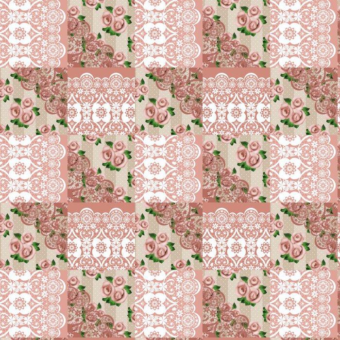 Tapeta Pixerstick Patchwork bezproblémové krajka květinovým vzorem - Pozadí