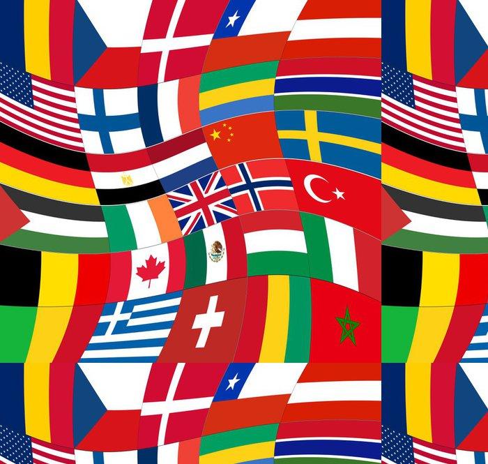 Tapeta Pixerstick Patchwork vlajek světa abstraktní pozadí vektor - Témata