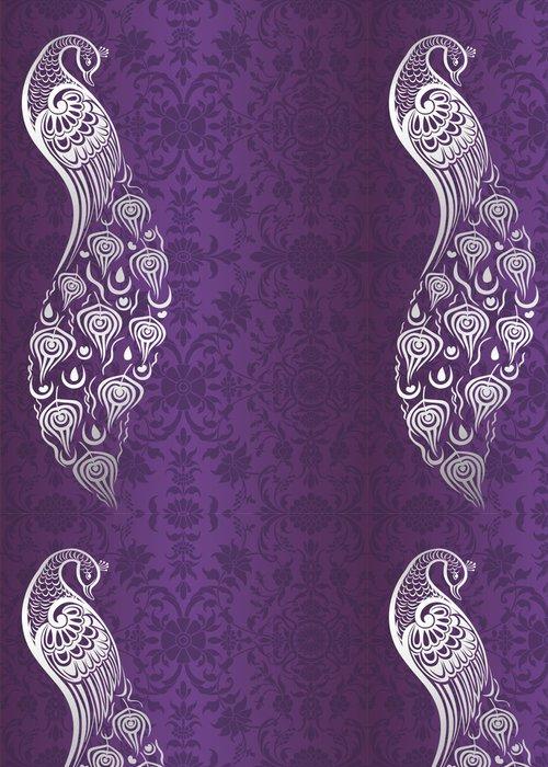 Tapeta Pixerstick Páv, design svatební oznámení, královský Indie - Styly