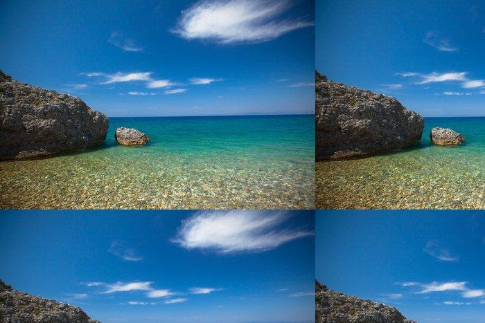 Tapeta Pixerstick Pebble Beach - Národní park Dilek, Turecko - Voda