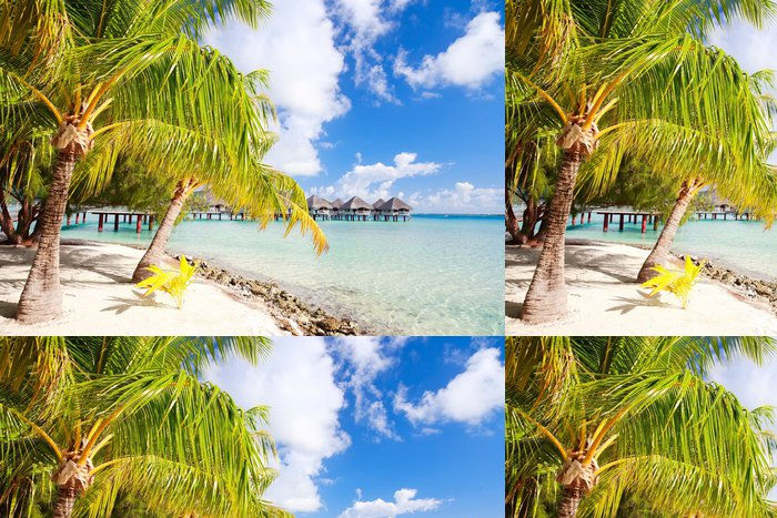 Tapeta Pixerstick Perfektní pláž na Bora Bora - Prázdniny
