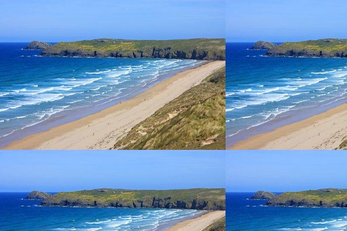Tapeta Pixerstick Perranporth pláž, Cornwall - Prázdniny