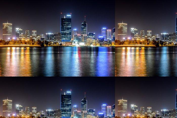 Tapeta Pixerstick Perth, Austrálie Skyline odráží v řece Swan - Industriální a obchodní budovy
