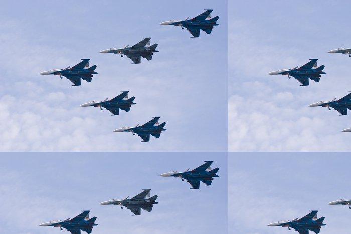 Tapeta Pixerstick Pět bojovníků na obloze - Vzduch