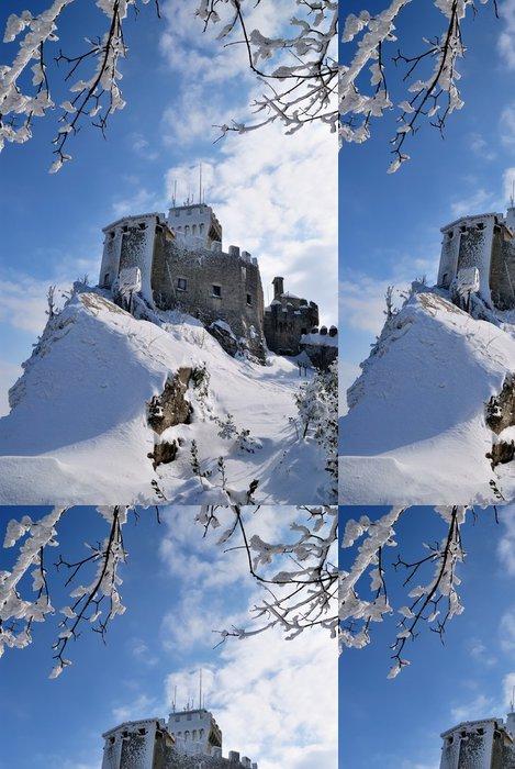 Vinylová Tapeta Pevnost neproniknutelná ve sněhu v zimě - Roční období