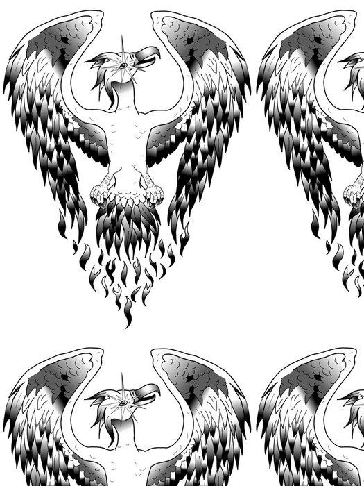 Vinylová Tapeta Phoenix - adler - orel - tetování - logo - Nálepka na stěny
