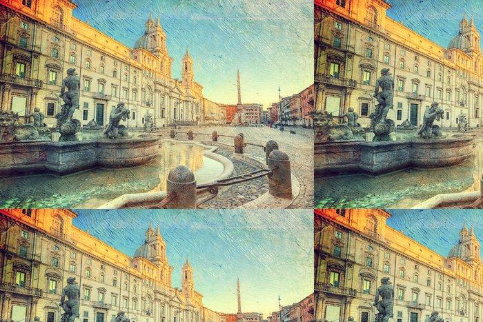 Vinylová Tapeta Piazza Navona, Řím, Itálie - Témata