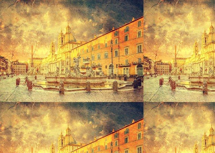 Tapeta Pixerstick Piazza Navona, Řím, Itálie - Evropská města