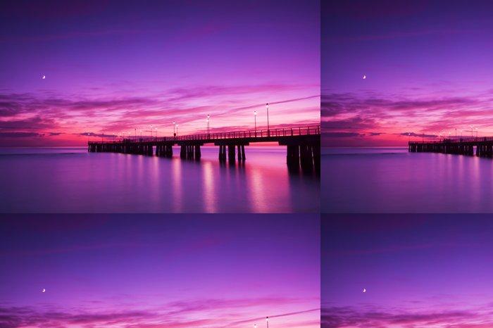 Tapeta Pixerstick Pier při západu slunce - Témata