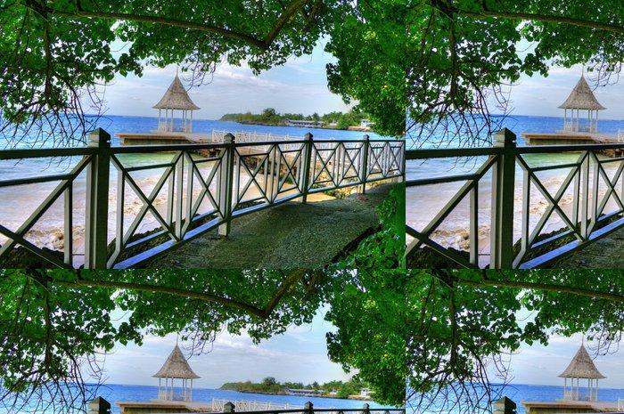 Vinylová Tapeta Pier v Montego Bay, Jamajka, Karibiku - Prázdniny