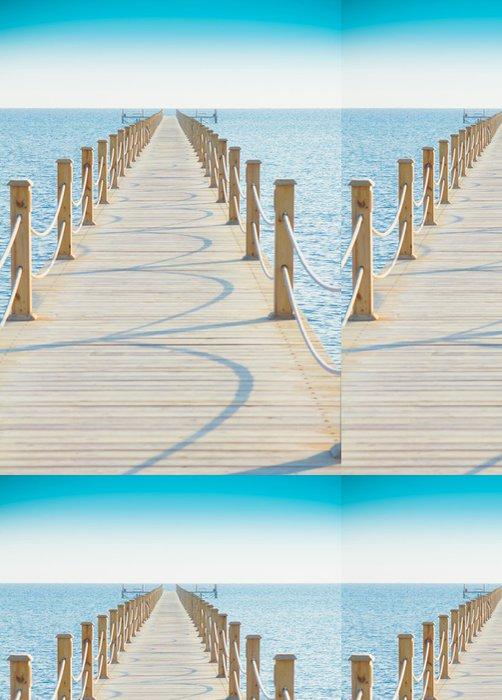 Tapeta Pixerstick Pier v nebesky modrého Place - Voda