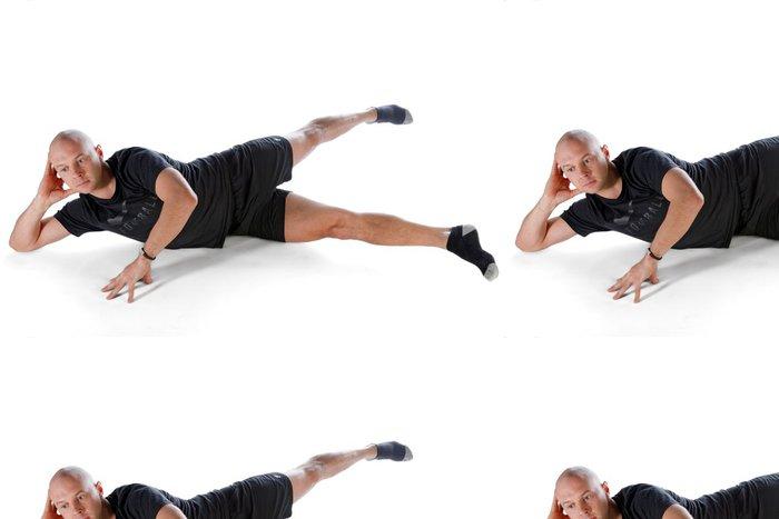 Tapeta Pixerstick Pilates poloha - Side Kick velké nůžky - Individuální sporty