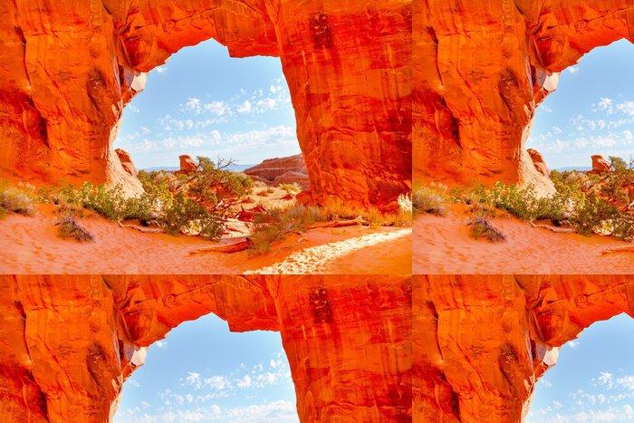 Vinylová Tapeta Pine Tree Arch Devils Garden Národní park Arches Moab v Utahu - Amerika