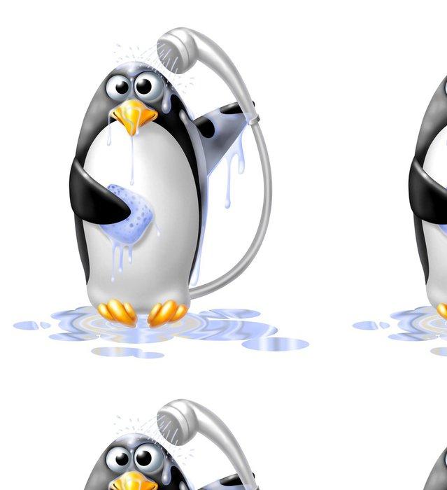 Tapeta Pixerstick Pinguino Doccia - Nálepka na stěny