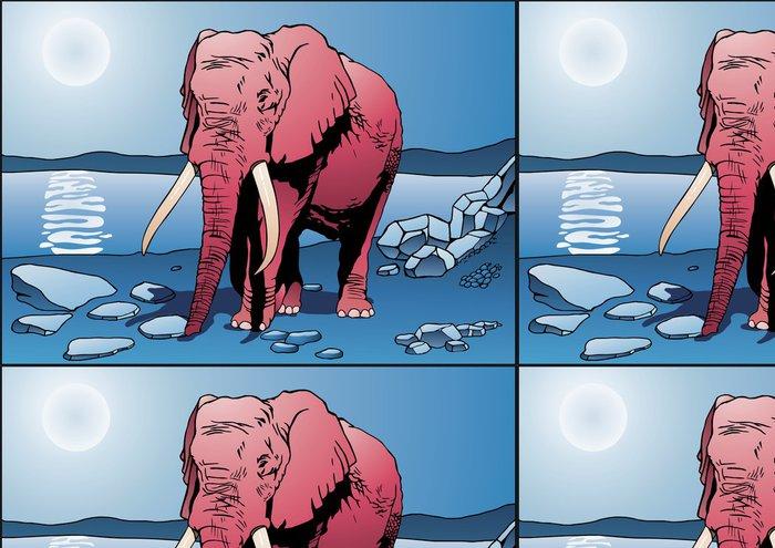 Tapeta Pixerstick Pink Elephant - Savci