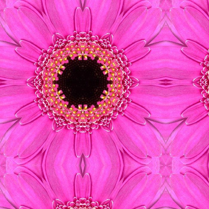 Tapeta Pixerstick Pink Mandala Concentric Flower Center Kaleidoscope - Květiny