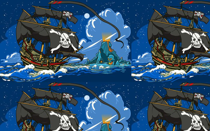 Tapeta Pixerstick Pirát - Lodě