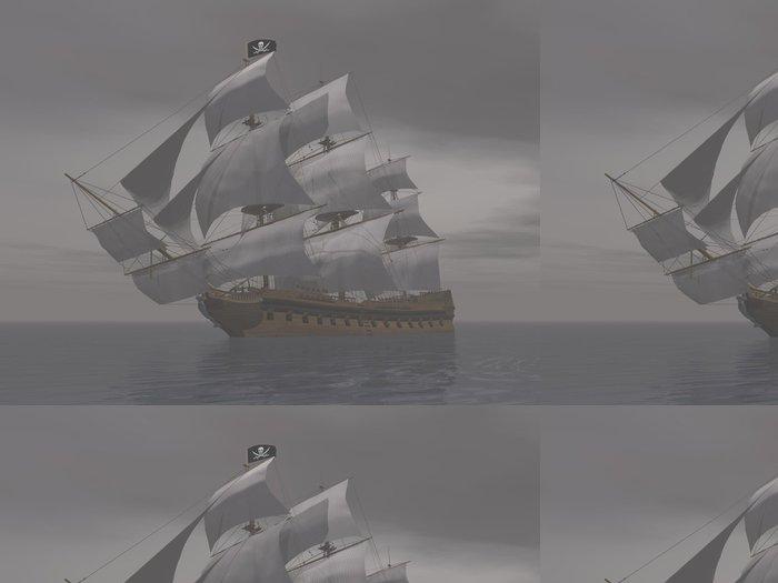 Tapeta Pixerstick Pirátská loď v mlze-3D render - Témata