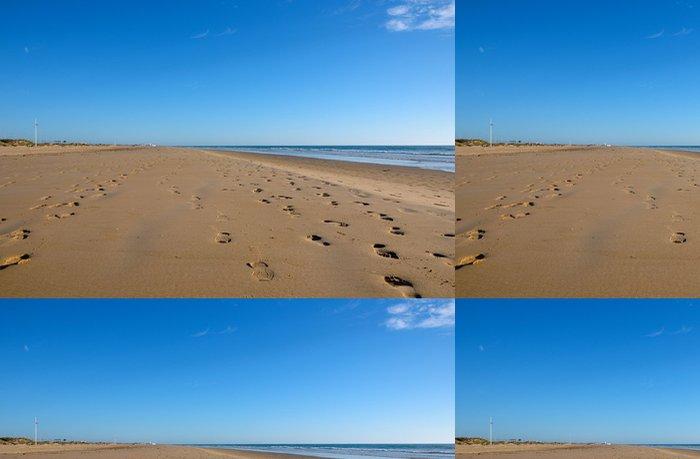 Tapeta Pixerstick Pisadas en la playa - Prázdniny