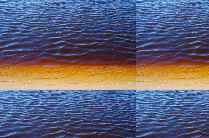 Tapeta Pixerstick Písečná břeh řeky spodní žlutá voda - Struktury