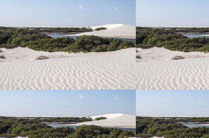 Tapeta Pixerstick Písečné duny Lencois Maranheses v Brazílii - Amerika