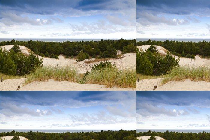 Vinylová Tapeta Písečné duny na pobřeží Baltského moře v dopoledních hodinách - Outdoorové sporty
