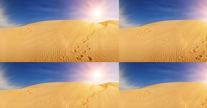 Tapeta Pixerstick Písečné duny na Sahaře - Pouště